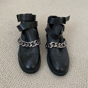 Zara chain ankle boots